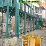 Harina de maíz que hace la máquina, cadena de producción de la harina del maíz