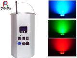 무선 배터리 전원을 사용하는 원격 제어 RGBW 세척 Uplight 단계 LED 동위 빛