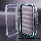 Waterproof Espuma-Dentro da caixa de pesca plástica pequena da mosca