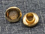 Ilhós de bronze do metal do projeto da forma do ornamento do vestuário anti
