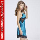 Сексуальный шнурок женщин и комплект женское бельё Nightdress эмулирования Silk Backless