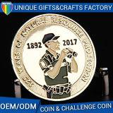 旧式な3Dエナメルのギフトの挑戦金属の硬貨