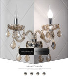 Modo Cognac Crystal Sconces Wall Lamp per il salone (W8330-2)