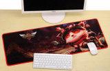 赤でロックされる端が付いている巨大なゴム製マウスパッドのMousepad余分XLの大型の賭博のマウスパッドを厚くしなさい