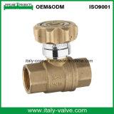 O Ce Certificated a válvula de esfera de bronze feita Italycopper do Y-Filtro (AV10066)