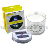 Portátil LED Solar Power Tent Lamp Camping Night Light Inflatable Pack Lite