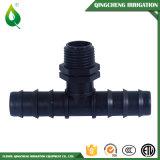 Encaixe plástico masculino vegetal do T da irrigação de gotejamento