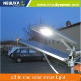 venta caliente 30W al aire libre todos en una luz de calle solar de la lámpara de 30W LED