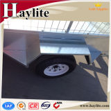Hot DIP Galvanized Box Trailer Remolque Utilitario con Jockey Wheel