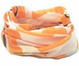 Naar maat gemaakte Embleem Afgedrukte Microfiber Promotie Multifunctionele Magische Sporten Bleekgele Headwear