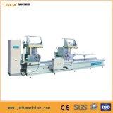 O alumínio e do indicador do PVC estaca da Dobro-Cabeça da máquina do CNC do perfil viram