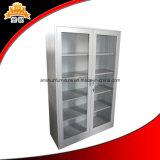 スライドガラスドア4の可動書だなの鋼鉄記憶の食器棚