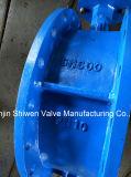 Doppelter Flansch-überzogenes Platten-Gummidrosselventil mit Gang-Stellzylinder