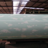 Pino PPGI de madera de la alta calidad en bobina de acero cubierta color