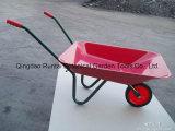 Wheelbarrow mais barato revestido Wb0100 do pó para crianças