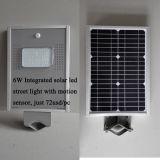 luz de rua solar do diodo emissor de luz 6W com o tudo em uma