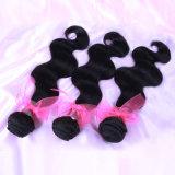 Da onda brasileira do corpo das extensões do cabelo do Virgin Weave 100% não processado do cabelo (HW-025)