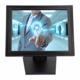 """los 1503m posición de 15 pulgadas conectan el monitor resistente del ordenador de la pantalla táctil del uso 15 """" 4/5 alambres LED"""