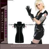 セクシーな女性PVC革Catsuitランジェリー(TW1257)