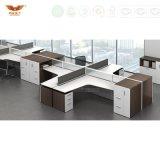 Poste de travail rond classique de bureau de compartiments de bâti modulaire moderne en métal