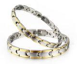 De goud Geplateerde Armband van de Energie van het Paar van het Roestvrij staal (Titanium)