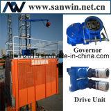 Sc100 choisissent l'élévateur matériel de moteur de la cage 20m/Min 1*11kw pour la construction
