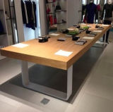 Pine solido Wood Table con Popular