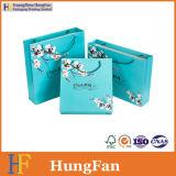 Bolso de compras de papel de empaquetado modificado para requisitos particulares del regalo monocromático de la impresión del diseño