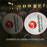 플라스틱 진공 LED 가벼운 상자 Signage를 인쇄하는 둥근 옥외 매체 광고
