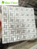Плитка мозаики Pinwheel Thassos белая смешанная Ming зеленая мраморный