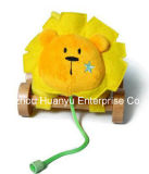 Factory Supply Infant Plush Pull Lion Toy