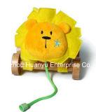 工場供給の幼児プラシ天の引きのライオンのおもちゃ