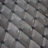 El azulejo de mosaico de piedra de mármol romboidal blanco del mármol 3D del buen diseño