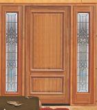 別荘のためのアメリカの標準カシの入口のガラスドア