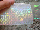 Anti-Fake PVC Card de Marks Printed com Light UV Printing, Microtext, Watermark