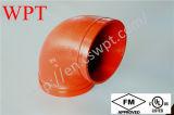 Cotovelo Grooved do tipo de FM/UL Wpt com ferro Ductile