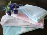 100%Cotton Baby Blanket con Jacquard Design
