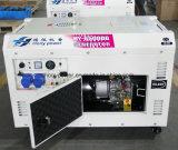 générateur diesel silencieux du début 8.5kw électrique avec des pneus facultatifs