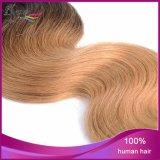 Extensão não processada do cabelo humano da onda do corpo do Virgin indiano