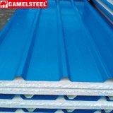 Telha de aço galvanizada da telhadura ondulada da folha por Camelsteel