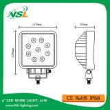 """27W LED作業ランプ、2295lmの4つの""""トラクターのための作業軽い9PC*3W Epistarチップ作業ライト"""