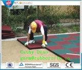 De gymnastiek Rubbr betegelt de OpenluchtTegel van de Bevloering van de Sporten van de Veiligheid Rubber, de RubberTegels van de Speelplaats, Recycle Rubber Tegel