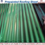 placa de aço galvanizada ondulada Prepainted da telhadura de 0.20mm Dx51d folha de aço