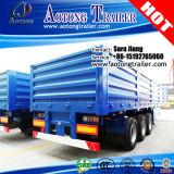 Aanhangwagen van de Zijgevel van de Container van de tri-as 40FT Flatbed voor Verkoop
