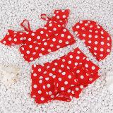 女の子の白の点のための熱い販売の2017年の水着