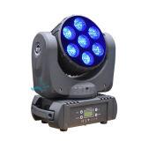 Haut IP20 Puissance 7 * 15W RGBW DMX LED Petit Moving Head Light