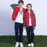 Spitzenform-Jungen-und Mädchen-Trainingsnazug/Sport-Abnützung, spätester Entwurfs-PrimärSchuluniformen
