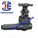 API/DIN/JIS saldato ha forgiato la valvola a saracinesca industriale ad alta pressione d'acciaio