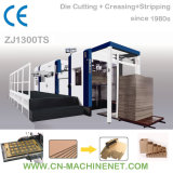 Zj1300ts automatische stempelschneidene und faltende Flachbettmaschine, zum des gewölbten Papiers zu schneiden