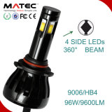 12V/24V kit del faro dell'automobile LED per 6000k automatico 9006 Hb4 H4 H7 H11